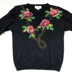 Vintage Jessica Roberts Sequin Sweater